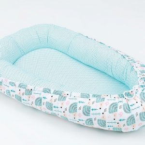 Cocoon – Teal with Hedgehogs