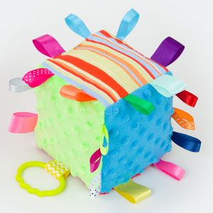 Cutey Cubes - Lime & Blue With Stripes