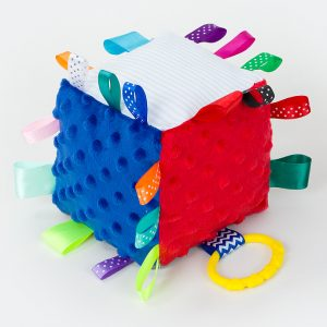 Cutey Cubes - Navy & Red
