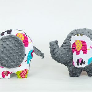 Ele Elephant Toy - Dark Grey Multicolour