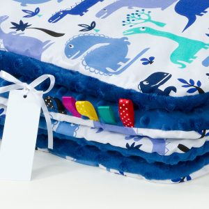 Comfy Cushion & Blanket Set - Navy Dinosaurs